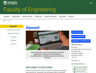 discovere.ualberta.ca screenshot