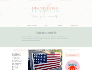 discoveringfranklin.com screenshot