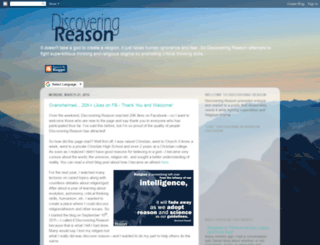 discoveringreason.com screenshot