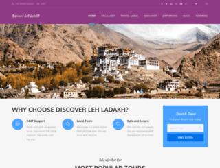 discoverlehladakh.in screenshot
