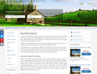 discovernorfolkisland.com screenshot
