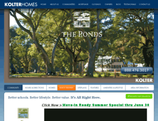 discovertheponds.com screenshot