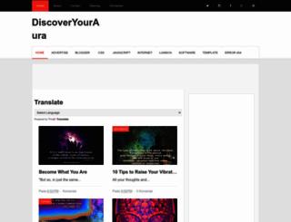 discoveryouraura.blogspot.nl screenshot