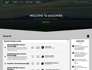 discoweb.org screenshot