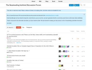 discuss.seasteading.org screenshot