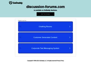 discussion-forums.com screenshot