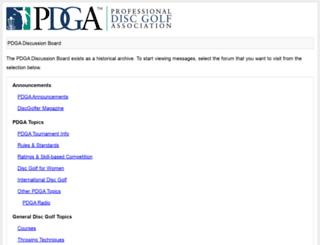 discussion.pdga.com screenshot
