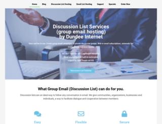 discussionlistservices.com screenshot