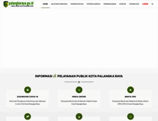 disdikpora.palangkaraya.go.id screenshot