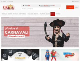 disfracessimon.com screenshot