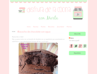 disfrutadelacocinaconmarta.blogspot.mx screenshot