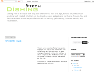 dishingtech.blogspot.com screenshot