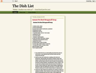 dishlist.blogspot.com screenshot