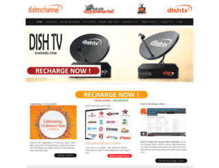dishtvchannel.com screenshot