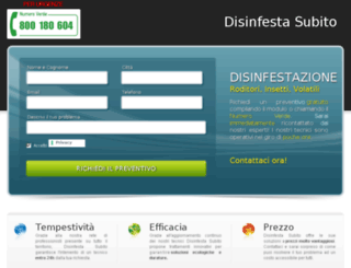 disinfestasubito.com screenshot