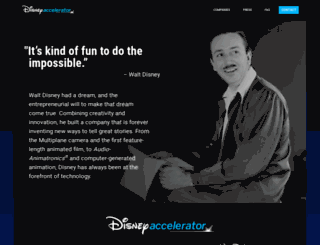 disneyaccelerator.com screenshot