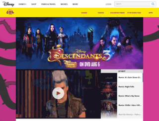 disneydescendants.com screenshot
