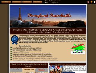 disneyland-parisshuttle.com screenshot