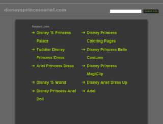 disneysprincessariel.com screenshot