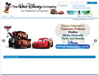 disneysuppliers.sciquest.com screenshot