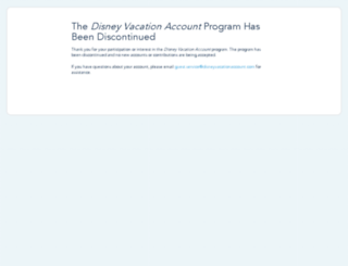 disneyvacationaccount.disney.go.com screenshot