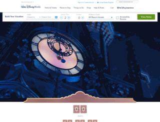 disneyworld.disney.go.com screenshot