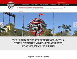 disneyworldsports.disney.go.com screenshot