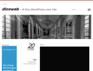 disoweb.wordpress.com screenshot