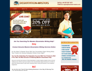 dissertation-masters.co.uk screenshot