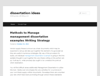 dissertationideas.blog.com screenshot