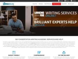 dissertationonline.co.uk screenshot