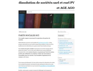 dissolutionsarl1pv.wordpress.com screenshot