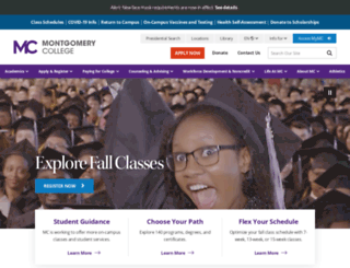 distance.montgomerycollege.edu screenshot