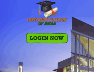 distancecollegeofindia.com screenshot