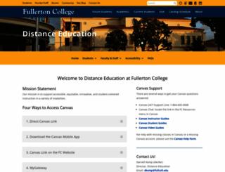distanceed.fullcoll.edu screenshot