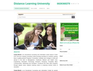 distanceeducationuniversity.weebly.com screenshot