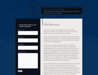distancelearningmbaprograms.wordpress.com screenshot