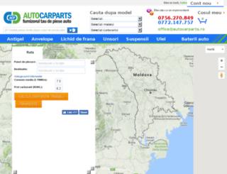 distanta.autocarparts.ro screenshot