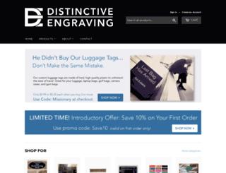 distinctiveengraving.com screenshot