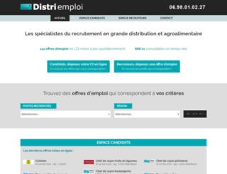 distri-emploi.com screenshot