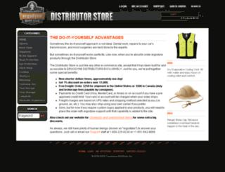 distributorstore.ergodyne.com screenshot