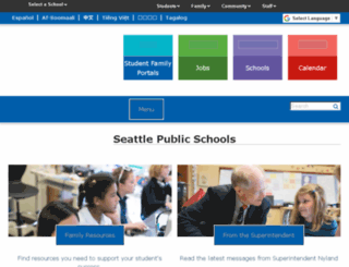 district.seattleschools.org screenshot