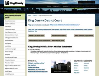 districtcourt.kingcounty.gov screenshot