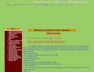 districtcourtkhurda.nic.in screenshot