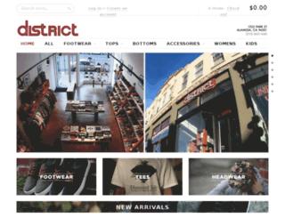 districtfootwear.com screenshot