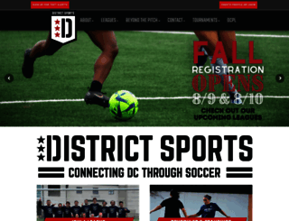 districtsportsusa.leagueapps.com screenshot