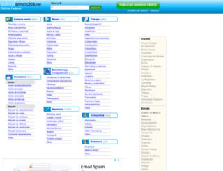 distritofederal.nuevosanuncios.net screenshot