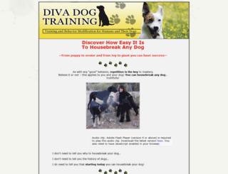 divadogtraining.com screenshot