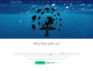 divegoa.com screenshot