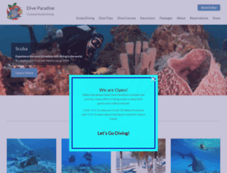 diveparadise.com screenshot